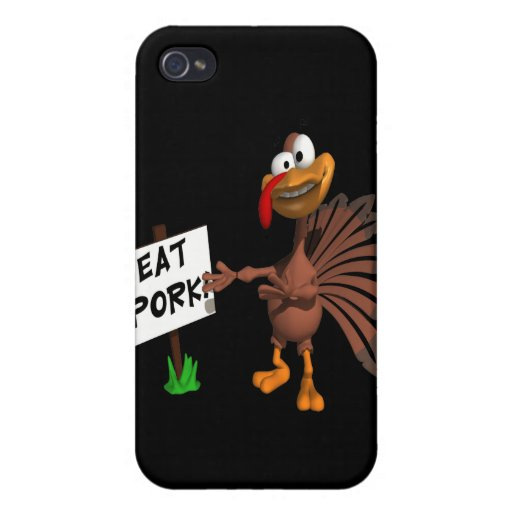 Eat Pork Case For iPhone 4