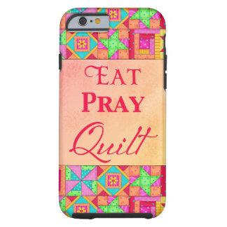 Eat Pray Quilt Colorful Patchwork Block Art Tough iPhone 6 Case