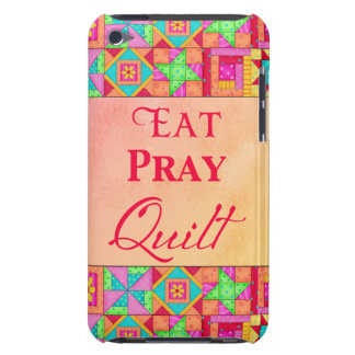 Eat Pray Quilt Colorful Patchwork Block Art Case-Mate iPod Touch Case