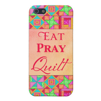 Eat Pray Quilt Colorful Patchwork Block Art Cover For iPhone SE/5/5s