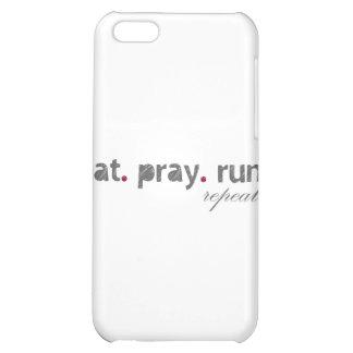eat. pray. run. IPad Speck Case iPhone 5C Covers