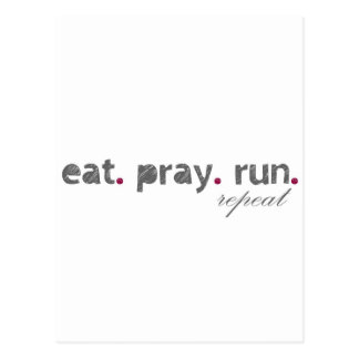 eat. pray. run. Postcard