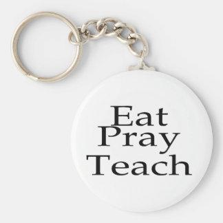 Eat Pray Teach Keychain