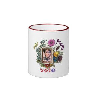 eat pray vote sarah palin ringer coffee mug