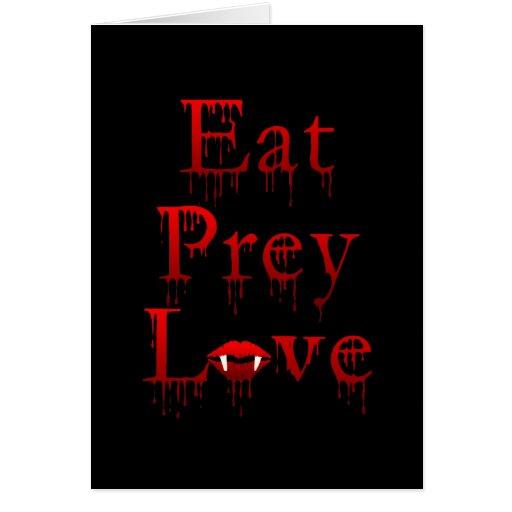 Eat Prey Love Greeting Card