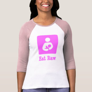 Eat Raw Breastfeeding / Nursing Icon T-Shirt
