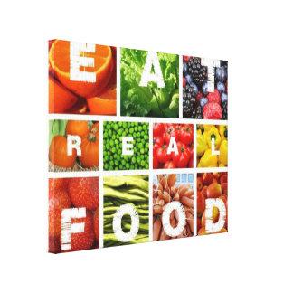 Eat Real Food Canvas Print