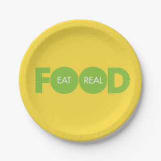 Eat Real Food Paper Plate