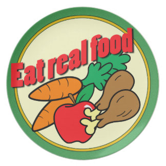 Eat Real Food Plate