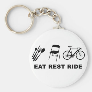 Eat Rest Ride Basic Round Button Keychain