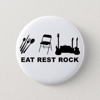 Eat Rest Rock Pinback Button
