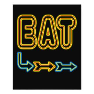 Eat Retro Neon Flyer Template