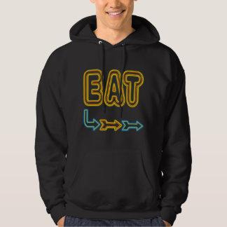 Eat Retro Neon Sign Restaurant Art Sweatshirt