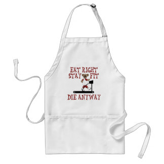 Eat Right - Stay Fit Adult Apron