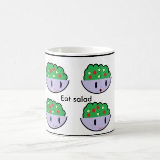 Eat salad basic white mug