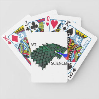 Eat Science!!! Bicycle Playing Cards