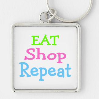 Eat Shop Repeat 2 Keychain