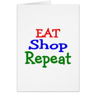 Eat Shop Repeat Card