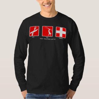 eat. ski. save. long sleeve T-Shirt