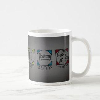 eat,slaap,toys classic white coffee mug