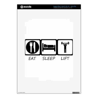 EAT SLEEP17 DECALS FOR iPad 3