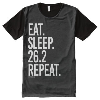 Eat Sleep 26-2 Repeat -   Running Fitness -.png All-Over Print Shirt