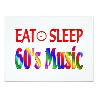 Eat Sleep 60's Music Invitations