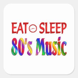 Eat Sleep 80's Music Stickers