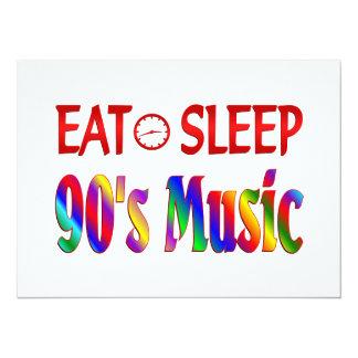 Eat Sleep 90's Music Personalized Invites