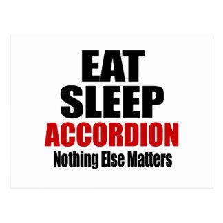EAT SLEEP ACCORDION POSTCARD