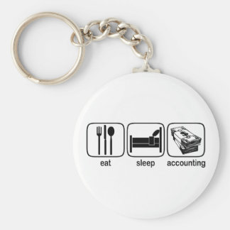 Eat Sleep Accounting Keychain