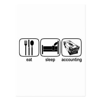 Eat Sleep Accounting Postcard