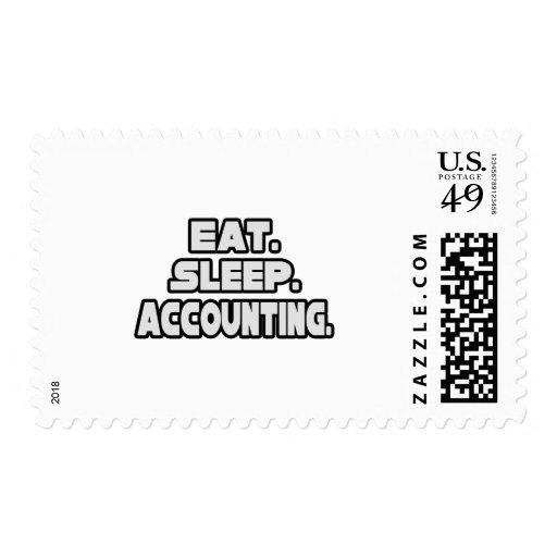 Eat Sleep Accounting Stamps