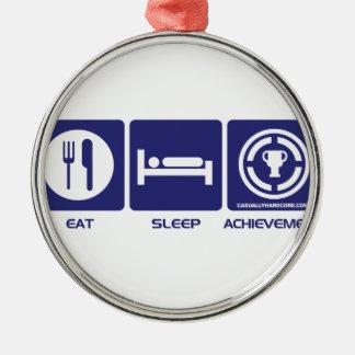 Eat Sleep Achievement Metal Ornament