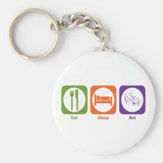 Eat Sleep Act Key Chain