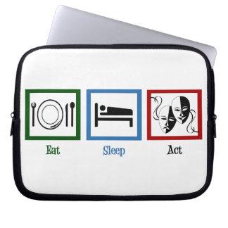 Eat Sleep Act Laptop Computer Sleeve