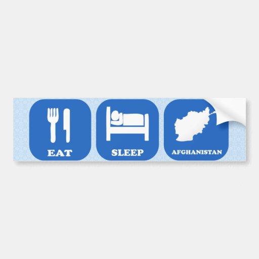 Eat Sleep Afghanistan Car Bumper Sticker