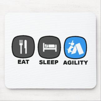 Eat. Sleep. Agility. Blue. Mouse Pad