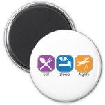 Eat Sleep Agility Fridge Magnets