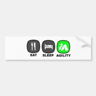 Eat. Sleep. Agility. Green. Car Bumper Sticker