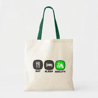 Eat. Sleep. Agility. Green. Tote Bags