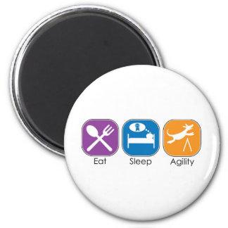 Eat Sleep Agility 2 Inch Round Magnet