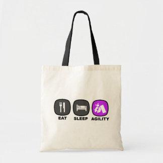 Eat. Sleep. Agility. Purple. Budget Tote Bag