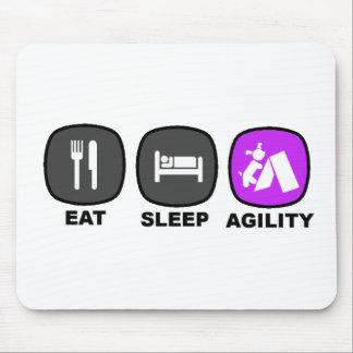Eat. Sleep. Agility. Purple. Mouse Pads