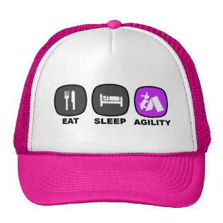 Eat. Sleep. Agility. Purple. Trucker Hat