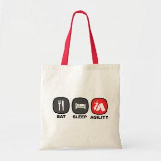 Eat. Sleep. Agility. Red. Budget Tote Bag