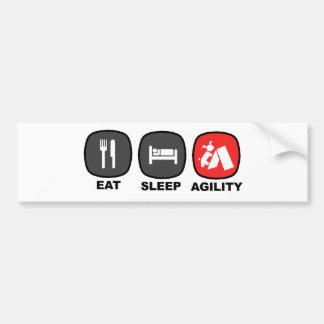 Eat. Sleep. Agility. Red. Car Bumper Sticker