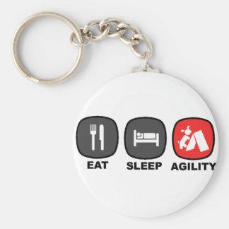 Eat. Sleep. Agility. Red. Key Chains