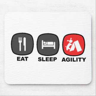 Eat. Sleep. Agility. Red. Mousepads