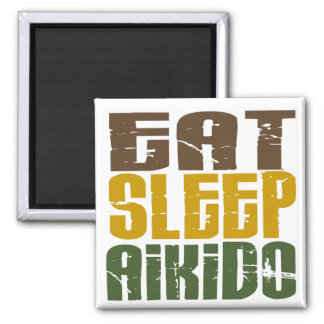 Eat Sleep Aikido 1 2 Inch Square Magnet